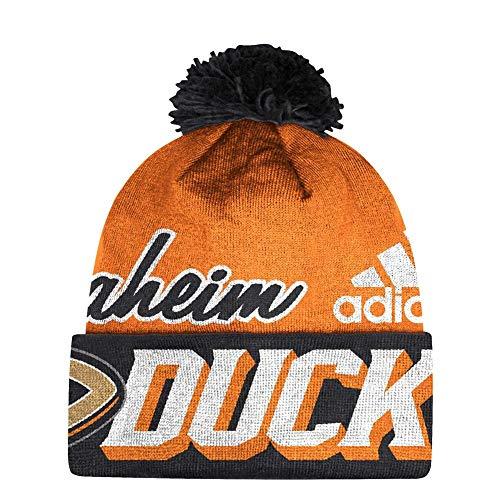 adidas Anaheim Ducks Beanie NHL Cuffed Pom Knit ()
