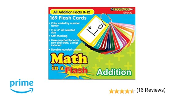 Amazon.com: Teacher Created Resources Math in a Flash Cards ...
