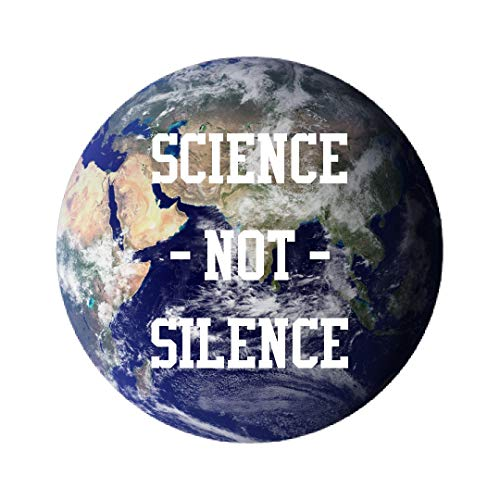 Science Not Silence On Planet Earth: All Over Print Round Plastic Button & ()
