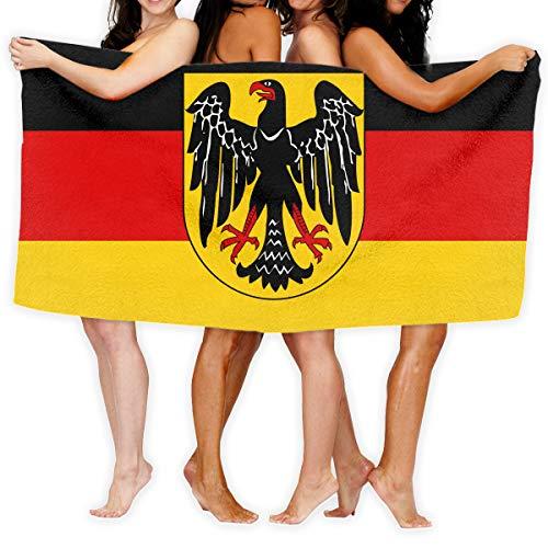 Flag Eagle Germany Printed Bath Towel Shower Wrap Beach Bathroom Body Towels Waffle Body Wrap Spa Home Travel Hotel Use