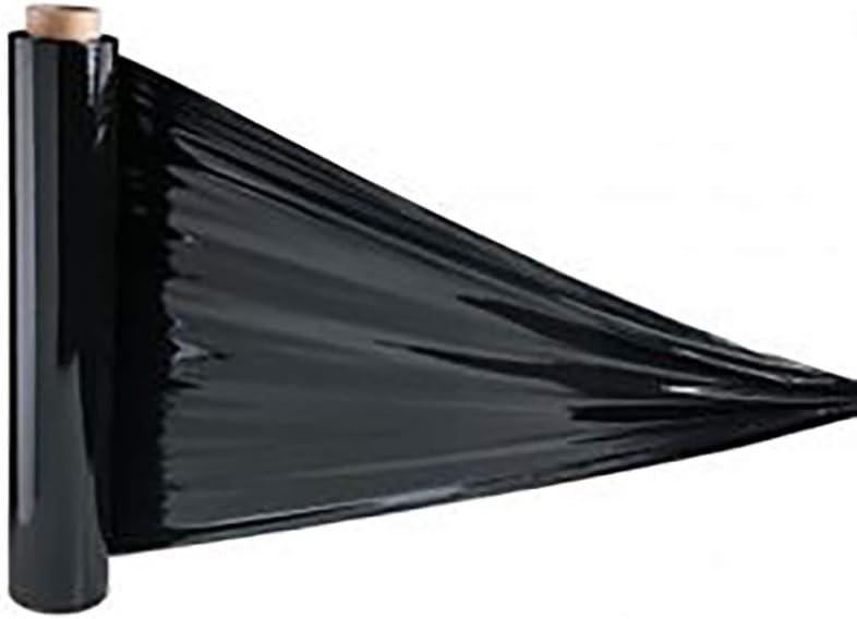 Película extensible NEGRO 1,5 kg película 23 mi paquete rollo de embalaje película de plotter embalaje (20): Amazon.es: Oficina y papelería