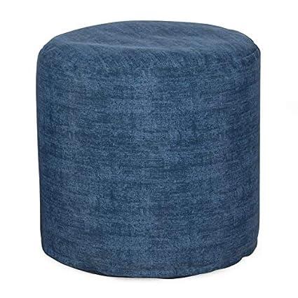 Awe Inspiring Amazon Com 18 Inch Diameter Blue Denim Outdoor Pouf Creativecarmelina Interior Chair Design Creativecarmelinacom