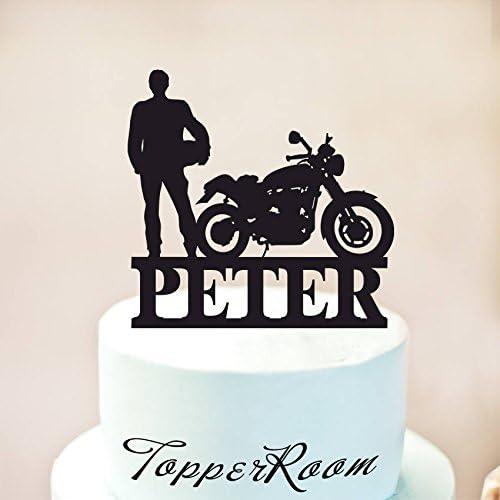 Decoración para tarta de motocicleta, decoración para pasteles de motocicleta, decoración personalizada para tarta de cumpleaños, bicicleta, decoración para tarta: Amazon.es: Hogar