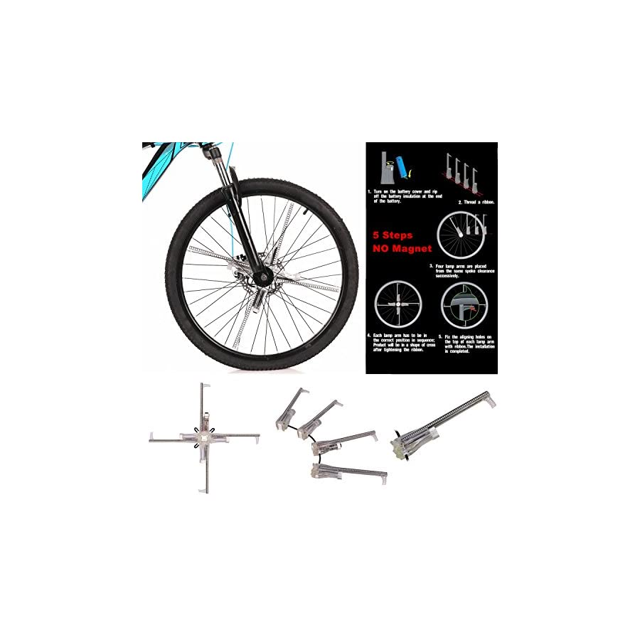 Taiyu Bike Wheel LED Light / Image and Video 416pcs LEDs 124124 High Resolution Display Built in Gyroscope, Easy to Install (BK8 Pro :416 LED)