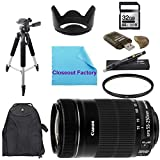 Basic Shooters Package for Canon EOS 7D: Includes 1x Canon EF-S 55-250mm f/4.0-5.6 IS II Telephoto Zoom Lens, 1x Ultra High Speed 32GB SDHC Memory Card, 1x USB SD Card Reader, 1x Hard Tulip Lens Hood, 1x 72'' Professional Tripod, 1x Deluxe Back Pack, 1x UV