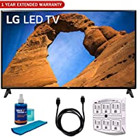 LG 49LK5700PUA 49-Class HDR Smart LED Full HD 1080p TV (2018) + 6ft HDMI Cable + Screen Cleaner (Large Bottle) + SurgePro 6-Outlet Surge Adapter w/Night Light + 1 Year Extended Warranty