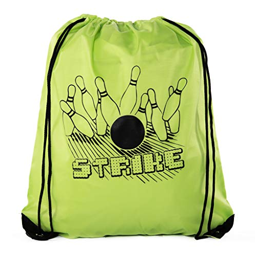Mato & Hash Goodie Bags for Kids | Drawstring Gift Bags with Logo for Bdays, Parties + More (Bowling Party Favor)