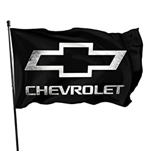 Chevy-Bowtie Logo Flag 3x5 Ft, Vivid Color And Fade Resistant Garden Signs Banners Flag With Grommets For Outdoor Indoor
