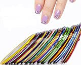 3Sets (30Colors in One Set) Striping Tape Line Nail Art Decoration Sticker For Women and Girl Makeup