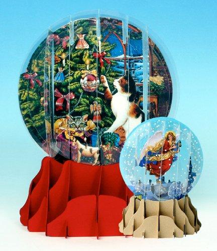 Christmas Greeting Card Pop-up 3-d Snow Globe Christmas - Postage Snow
