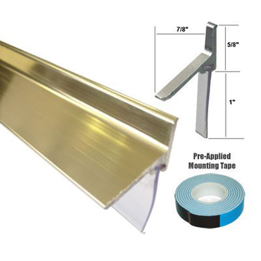 Gold Framed Shower Door Replacement Bottom Deflector With Vinyl