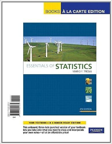 Essentials of statistics (4th edition) (triola statistics series.