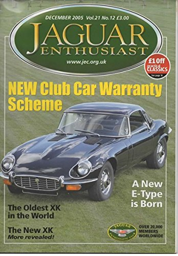Jaguar Enthusiast Magazine, December 2005 (Vol 21, No 12)