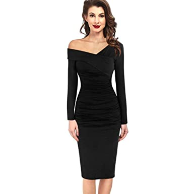 manxivoo winter dress womens winter sexy bodycon dress v neck off shoulder ruched work