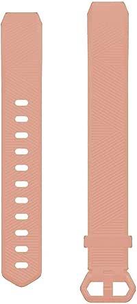 شريط ساعة سيليكون من لايجر متوافق مع ساعات فيت بيت ألتا و فيت بيت ألتا أتش آر و فيت بيت آيس لون زهري فاتح قياس صغير جداً