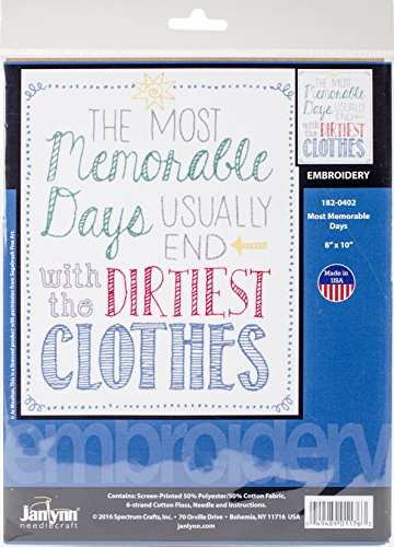 Janlynn Most Memorable Days-Stitched in Floss Stamped Embroi