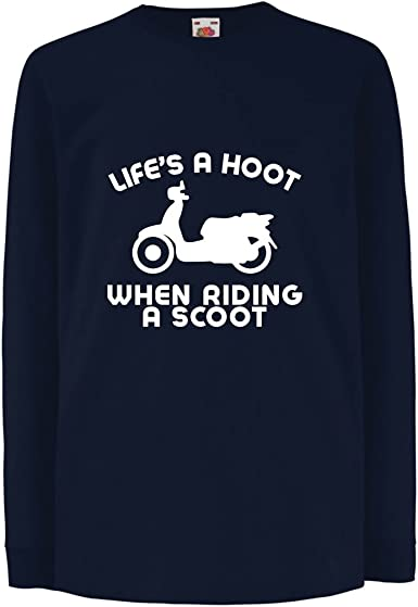 Niños/Niñas Camiseta La Vida es una Risa Cuando andas en Moto ...