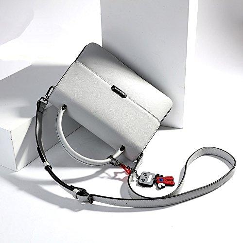 LEODIKA Bolsa de hombro del modelo nuevo de las mujeres del bolso del ocio femenino taleguilla del bolso de señora pendiente de la historieta señora Bag Gris Gray