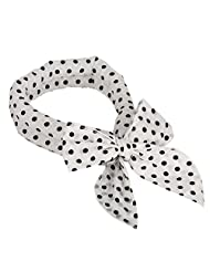 Womens Fashion White Black Polka Dot Cooling Neck Head Bandanas Cooling Scarf