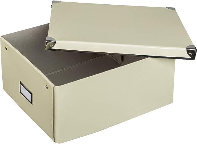 Caja de cartón rígido de Idena con tapa reforzada con metal, incluye campo de rotulación, aprox. 36 x 28 x 17 cm. , color, modelo surtido: Amazon.es: Juguetes y juegos