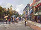 Perfect Effect Canvas ,the Cheap But High Quality Art Decorative Art Decorative Prints On Canvas Of Oil Painting 'Decoration: The Business Street', 12x16 Inch / 30x41 Cm Is Best For Dining Room Decor And Home Artwork And Gifts