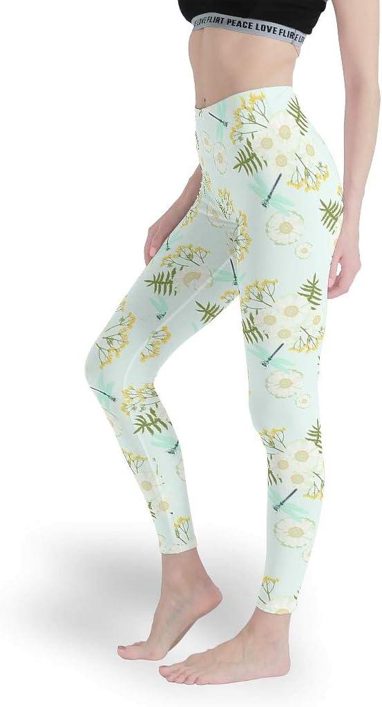 Eceitti - Leggings para Mujer con diseño de Flor Daisy, de algodón ...