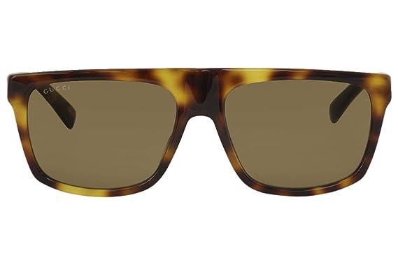 Gucci GG0450S-003 Gafas de sol, Havana, 57 para Hombre ...