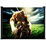 "Street Fighter IV 4 Game Ryu Sagat Fabric Wall Scroll Poster (21""x16"") Inches"