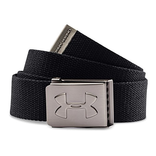 Under Armour Boys' Webbed Belt, Black (001)/Graphite, One Size