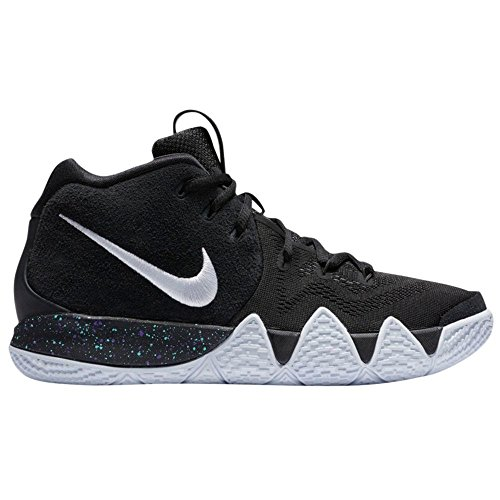 NIKE Kid's Kyrie 4 GS, Black/White, Youth Size 7 by NIKE