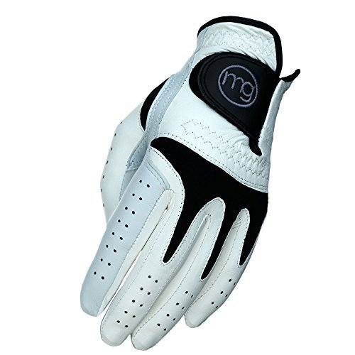 MG Golf TechGrip All-Cabretta Leather Golf Glove (Mens Cadet Sizes) - Large