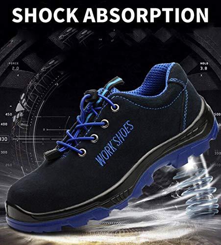 38 Pinchazo Zapatillas Zapatos Antideslizante Azul De Hombre Con Botas Construcción 46 Seguridad Puntera Prueba Trabajo Calzado Acero Senderismo SxaqF8