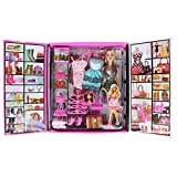 Rotle 1c122 Party Girl Doll and Her Fun Fashion Princess Personal Style Wardrobe Set, Pink