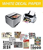 WATERSLIDE DECAL PAPER, CARTA PER DECALCOMANIA, STAMPA INKJET & LASER, BASE WHITE, 6 FOGLI A4