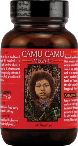 AMAZON THERAPEUTIC LABORATORIES Camu-Camu Mega C 500mg Wild Crafted 60 VEGIC