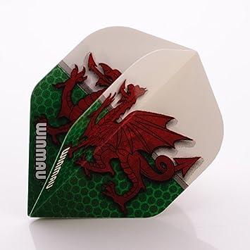 5 Sets of Winmau Rhino Darts Flights Long Life Extra Thick in Welsh Emblem