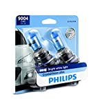 Philips 9004 CrystalVision Ultra Upgraded Bright White Headlight Bulb, 2 Pack