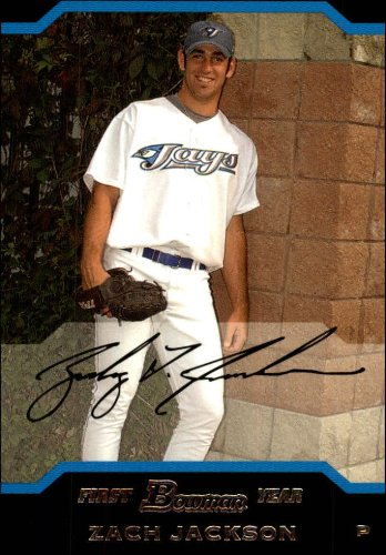 - 2004 Bowman Draft Baseball Rookie Card #109 Zach Jackson