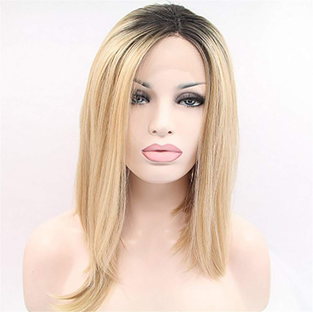 ELEGENCE-Z Parrucca da Donna, Americana Sexy Naturale soffice e ordinata Resistente al Calore Parrucca Sintetica Uso Quotidiano