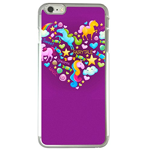 Image Of Fairytale Elements within a Heart on Purple Apple iPhone 6 Plus / 6S Plus Phone Case