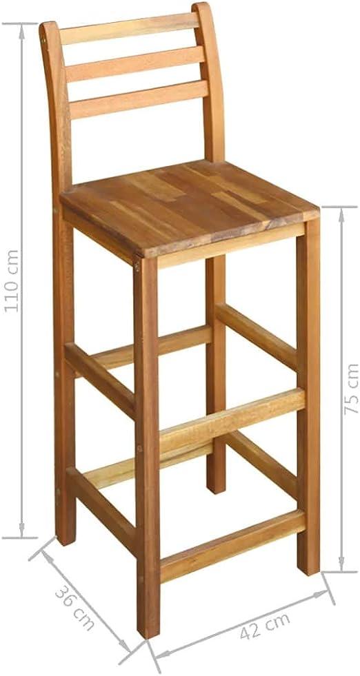 Vidaxl Legno Massello Di Acacia Tavolo E Sedie Bar 5 Pz Sgabelli Tavolo Alto Arredamento Quickandcleaninc Arredo Bar