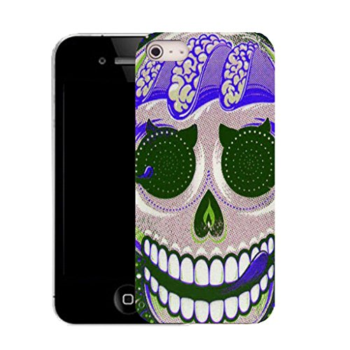 Mobile Case Mate IPhone 4 4S clip on Dur Coque couverture case cover avec Stylet - purple licking skull Motif