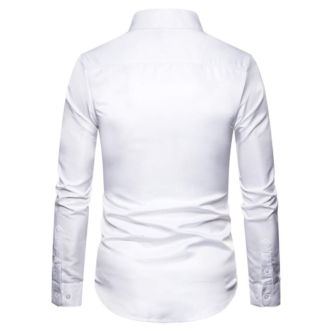 Abeaicoc Mens Button Down Regular Fit Shirts Embroidery Long Sleeve Dress Shirts