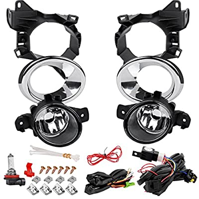 AUTOSAVER88 Fog Lights Compatible with Nissan Pathfinder 2013 2014 2015 2016 (Clear Lens with Bulbs & Wiring Harness): Automotive
