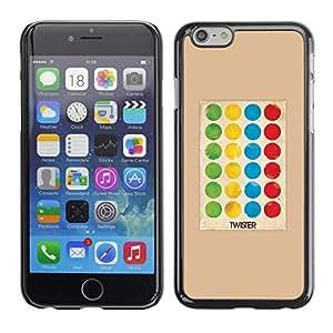 FECELL CITY // Duro Aluminio Pegatina PC Caso decorativo Funda Carcasa de Protección para Apple Iphone 6 // Game Polka Dot Twist Kids