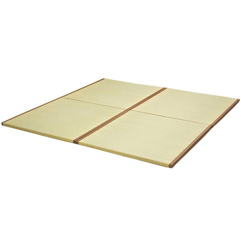 い草 置き畳 ユニット畳 4枚組 楽らく 正方形 82cm×82cm×3cm 超軽量タイプ B00B8PAK92  2、正方形 4枚セット / 2畳セット