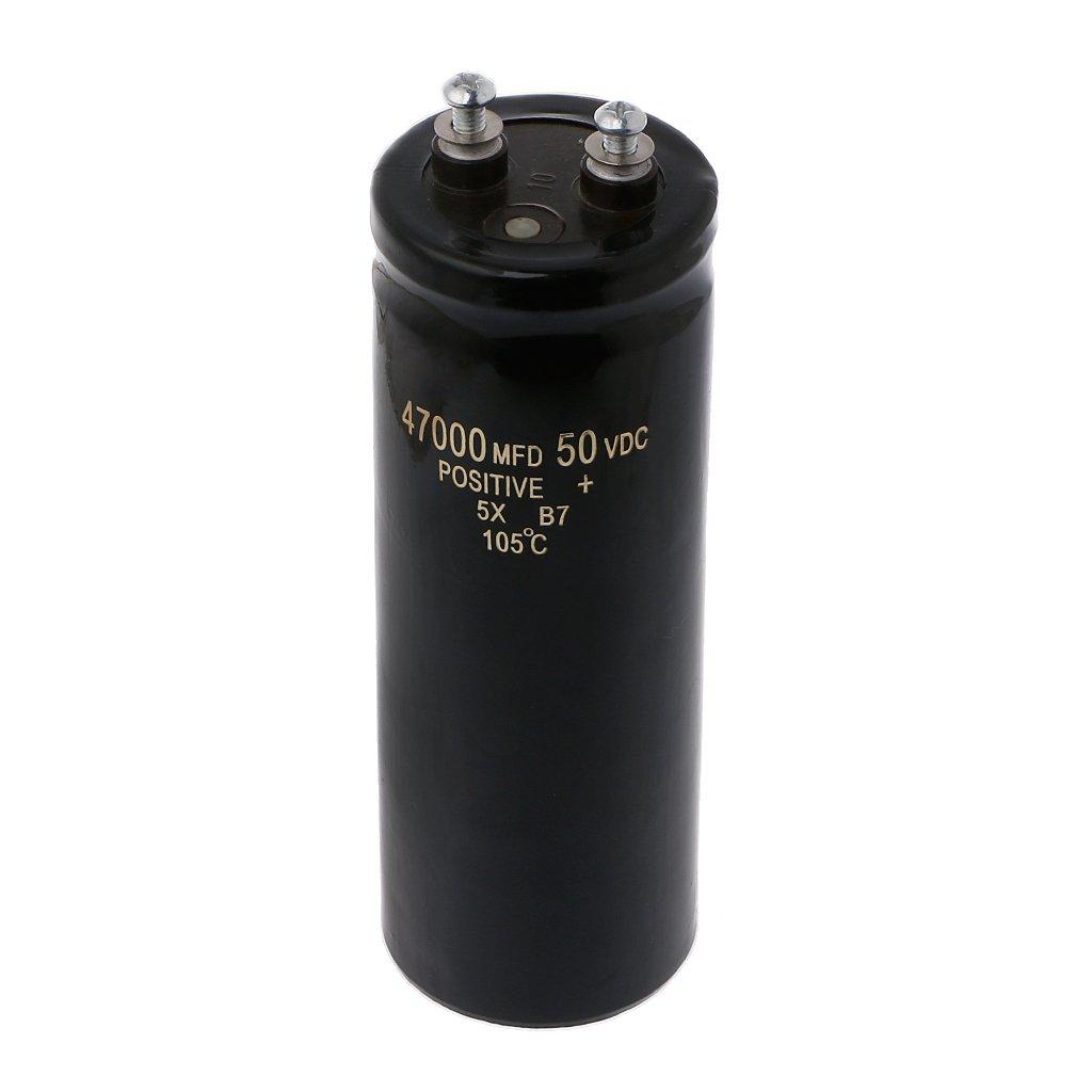 Filtrage Audio 50V 47000UF // MFD Vis en Aluminium Condensateur /électrolyte 105 /°C Bogji