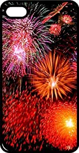 July 4th Fireworks Black Rubber Case for Apple iPhone 4 or iPhone 4s