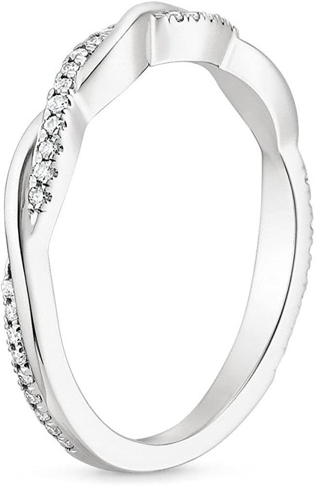 Caperci Sterling Silver CZ Cubic Zirconia Diamond Ring for Wedding Anniversary Jewelry Size 5-11