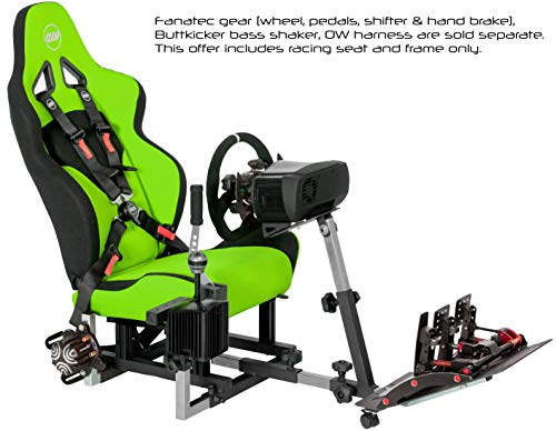 Openwheeler GEN2 Racing Wheel Stand Cockpit Green on Black | Fits All  Logitech G29 | G920 | All Thrustmaster | All Fanatec Wheels | Compatible  with